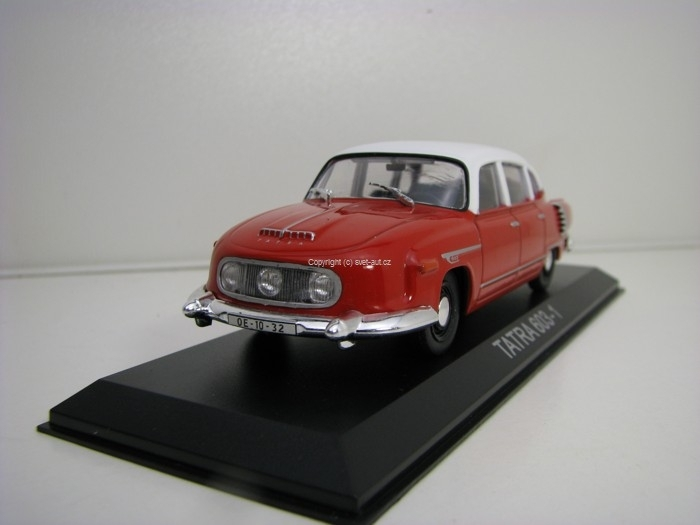 Tatra 603-1 Red White 1:43 Atlas